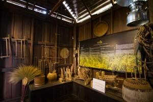 ส่วนห้องนี้เป็นห้องที่สำหรับแสดงเครืองไม้เครื่องมือสำหรับทำนา